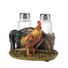 Buy *17743U - Country Farm Rooster Salt & Pepper Shaker Holder