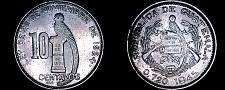 Buy 1945 Guatemalan 10 Centavo World Silver Coin - Guatemala
