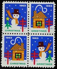 Buy 1963 American Lung Association Christmas Seals, Block of 4 Scott WX Mint F/VF NH