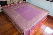 Buy Pink King And Queen Bed Cover Fabric 205cm. X 260cm.