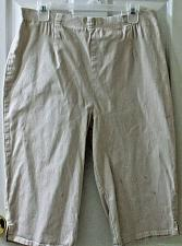 Buy Ladies Denim and Company Knee Pants Tan Size Large