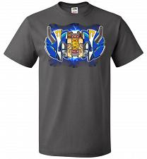 Buy Blue Ranger Unisex T-Shirt Pop Culture Graphic Tee (XL/Charcoal Grey) Humor Funny Ner