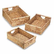 Buy *17946U - Water Hyacinth 3pc Nesting Basket Set