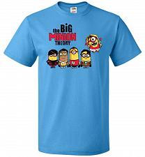 Buy The Big Minion Theory Unisex T-Shirt Pop Culture Graphic Tee (2XL/Pacific Blue) Humor