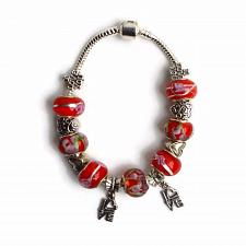 Buy European Silver Charm Bracelet Love With Red Murano Beads Valentines Day