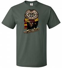 Buy Owly Potter Unisex T-Shirt Pop Culture Graphic Tee (4XL/Forest Green) Humor Funny Ner