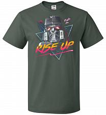 Buy Rise Up Unisex T-Shirt Pop Culture Graphic Tee (L/Forest Green) Humor Funny Nerdy Gee