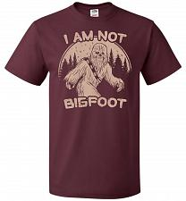 Buy I'm Not Bigfoot Unisex T-Shirt Pop Culture Graphic Tee (L/Maroon) Humor Funny Nerdy G