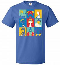Buy Popiece Art Unisex T-Shirt Pop Culture Graphic Tee (L/Royal) Humor Funny Nerdy Geeky