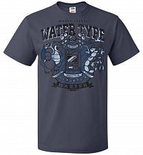 Buy Water Type Champ Pokemon Unisex T-Shirt Pop Culture Graphic Tee (5XL/J Navy) Humor Fu
