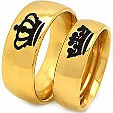 Buy coi Jewelry Tungsten Carbide King Queen Wedding Band Ring