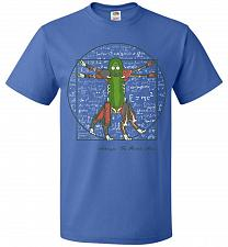 Buy Vitruvian Pickle Rick Unisex T-Shirt Pop Culture Graphic Tee (L/Royal) Humor Funny Ne