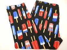 Buy Women Sueded Capri Leggings SIZE L Bright Popsicle Print Super Soft Sueded