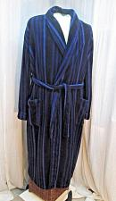 Buy r71 Pierre Cardin Mens Plush Terry Blue Striped Bath Robe Smoking Lounge Robe L