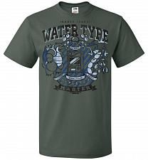 Buy Water Type Champ Pokemon Unisex T-Shirt Pop Culture Graphic Tee (6XL/Forest Green) Hu