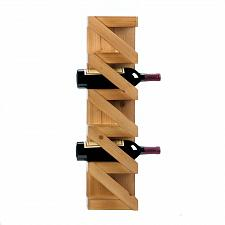 Buy *18298U - Zig Zag 5 Wine Bottle Holder Wood Wall Rack