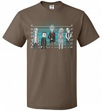 Buy Rick and Morty Unusual Suspects Unisex T-Shirt Pop Culture Graphic Tee (5XL/Chocolate