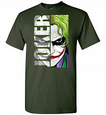 Buy Joker Unisex T-Shirt Pop Culture Graphic Tee (M/Forest Green) Humor Funny Nerdy Geeky