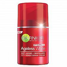 Buy Garnier Ageless White Anti Aging Whitening City Renew Serum Cream SPF30 50ml