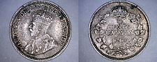 Buy 1912 Canada 5 Cent World Silver Coin - Canada - George V - Lot#9911