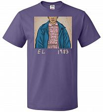 Buy EL 1983 Unisex T-Shirt Pop Culture Graphic Tee (L/Purple) Humor Funny Nerdy Geeky Shi