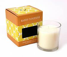 "Buy :10647U - Mango Tangerine Scented White Candle 4"" Glass Cup"