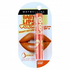 Buy Maybelline Baby Lips Bright Out Loud Color Tinted Lip Balm SPF13 Striking Orange