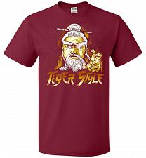 Buy Tiger Style Unisex T-Shirt Pop Culture Graphic Tee (S/Cardinal) Humor Funny Nerdy Gee