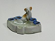 Buy Vintage Porcelain Dog Figural Ashtray Cigarette Holder Snuffer Japan Lustre