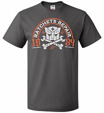 Buy Transformers Ratchet's Repair Adult Unisex T-Shirt Pop Culture Graphic Tee (L/Charcoa