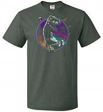 Buy Rad Velociraptor Unisex T-Shirt Pop Culture Graphic Tee (4XL/Forest Green) Humor Funn