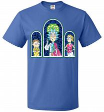 Buy Rick And Morty Stain Glass Unisex T-Shirt Pop Culture Graphic Tee (XL/Royal) Humor Fu