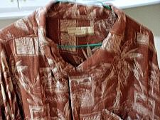 Buy Island Passport Brown Men's Hawaiian Short Sleeve Shirt Size 2XL Rayon EUC