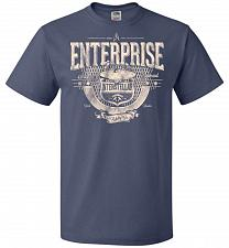 Buy Enterprise Unisex T-Shirt Pop Culture Graphic Tee (L/Denim) Humor Funny Nerdy Geeky S