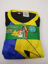 Buy Boys 1-Piece Sleeper POKEMON Size 10/12 Fleece Zip Front Crew Neck Long Sleeves