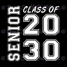 Buy Class of 2030 Senior Graduation T Shirt Squared TOP QUALITY SHIRTS & PRINTING