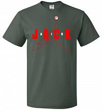 Buy Air Jack Unisex T-Shirt Pop Culture Graphic Tee (4XL/Forest Green) Humor Funny Nerdy