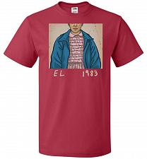 Buy EL 1983 Unisex T-Shirt Pop Culture Graphic Tee (M/True Red) Humor Funny Nerdy Geeky S
