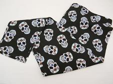 Buy Women Ankle Leggings Black Skull Print SIZE L Skinny Legs Inseam 28