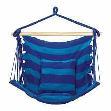 Buy *18287U - Blue Stripe Cotton Hanging Hammock Chair w/Pillow