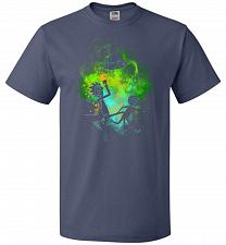 Buy Rick Morty Art Unisex T-Shirt Pop Culture Graphic Tee (2XL/Denim) Humor Funny Nerdy G