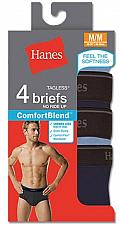 Buy 8 Pair Men's TAGLESS ComfortBlend Dyed Brief Comfort Flex Waistband #7500P4