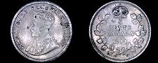 Buy 1914 Canada 5 Cent World Silver Coin - Canada - George V - Lot#9735