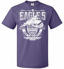 Buy Eagle 5 Hyperactive Winnebago Unisex T-Shirt Pop Culture Graphic Tee (L/Purple) Humor