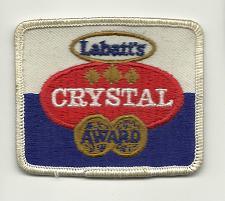 Buy LABATT'S CRYSTAL Embroidered patch Vintage Canada Beer Labatts