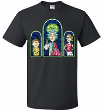 Buy Rick And Morty Stain Glass Unisex T-Shirt Pop Culture Graphic Tee (4XL/Black) Humor F