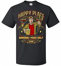 Buy Gilmore's Happy Place Adult Unisex T-Shirt Pop Culture Graphic Tee (S/Black) Humor Fu
