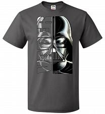 Buy Vader Youth Unisex T-Shirt Pop Culture Graphic Tee (Youth M/Charcoal Grey) Humor Funn