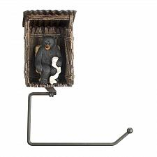 Buy *16198U - Bear Outhouse Toilet Paper Roll Holder Wall Mount