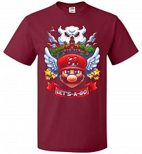 Buy Retro Mario 64 Tribute Adult Unisex T-Shirt Pop Culture Graphic Tee (3XL/Cardinal) Hu